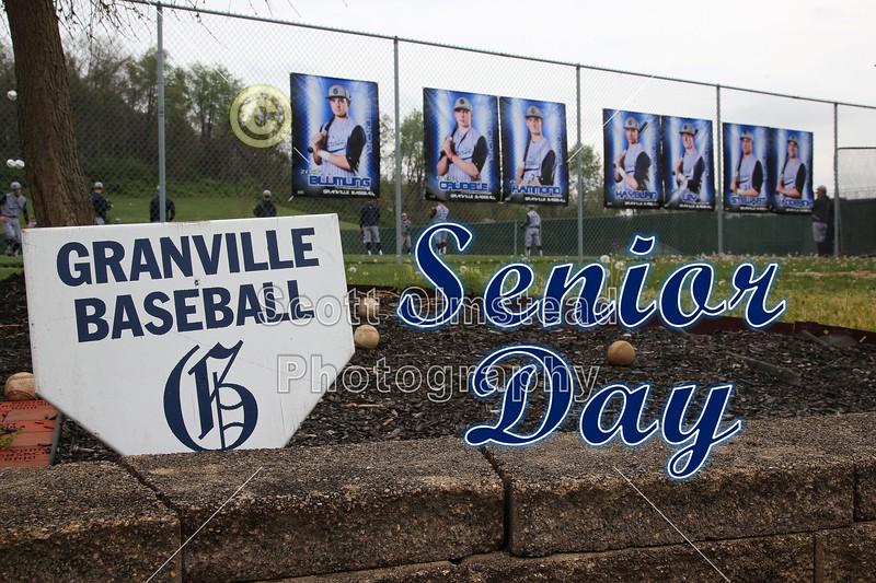 Senior Day - Reynoldsburg High School Raiders at Granville High School Blue Aces - Saturday, April 30, 2016