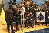 The ACESylum Student Section during Pregame Warm-Ups - Wednesday, January 12, 2011 - Newark Catholic Green Wave at Granville Blue Aces - VARSITY