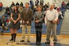 Hall of Fame Inductions at Halftime (for more on the HOF please go to the Hall of Fame gallery in the Granville Blue Ace catagory) - Friday, December 17, 2010 - Lakewood Lancers at Granville Blue Aces - Athletic Hall of Fame Induction Night