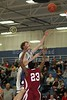(23) Sherard Polland - 1st Quarter - Tuesday, December 07, 2010 - Licking Heights Hornets at Granville Blue Aces - Junior Varsity Basketball