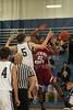 (5-Granville) Ethan Schmidt & (23-Heights) Sherard Polland - 1st Quarter - Tuesday, December 07, 2010 - Licking Heights Hornets at Granville Blue Aces - Junior Varsity Basketball