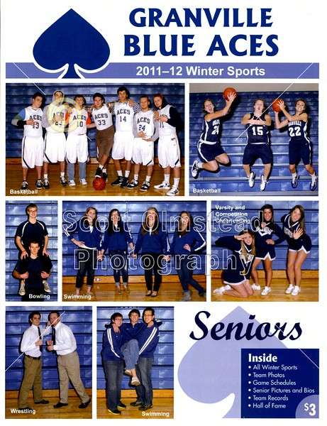 SENIOR NIGHT - Friday, February 17, 2012 - Whitehall-Yearling Rams at Granville Blue Aces