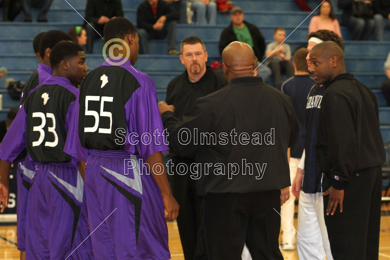 Team Captains - Saturday, January 7, 2012 - Africentric Early College Nubians at Granville Blue Aces - VARSITY