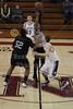 1st Quarter - Tuesday, February 20, 2012 - FRESHMEN TOURNAMENT held at Newark High School - Granville Blue Aces versus Westerville Central Warhawks