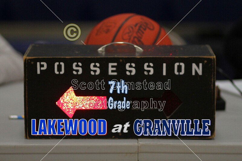 Thursday, January 19, 2012 - Lakewood Lancers at Granville Blue Aces - 7th Grade