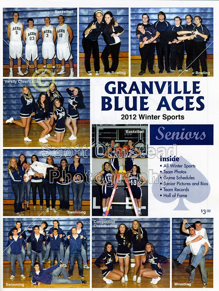 Official Game Program - Wednesday, January 16, 2013 - Newark Catholic Green Wave at Granville Blue Aces - VARSITY