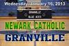 Wednesday, January 16, 2013 - Newark Catholic Green Wave at Granville Blue Aces - VARSITY