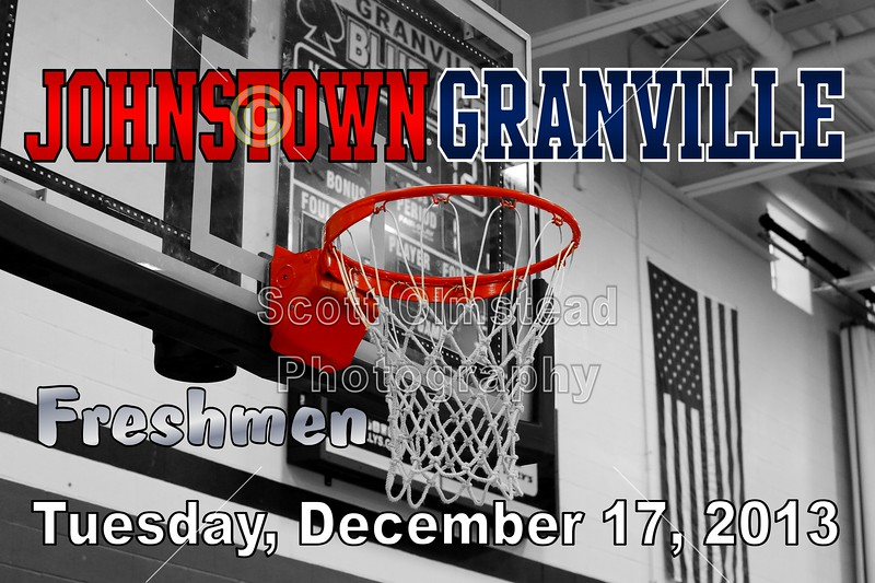 Tuesday, December 17, 2013 - Johnstown Johnnies at Granville Blue Aces - Freshmen