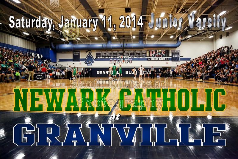 Saturday, January 11, 2014 - Newark Catholic Green Wave at Granville Blue Aces - Junior Varsity