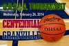 Wednesday, February 26, 2014 - Columbus Centennial Stars at Granville Blue Aces - OHSAA Tournament
