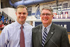 Hall of Fame Night at Granville (Ohio) High School - Cooper Dennison with his Father, Tim Dennison, Both, Granville Hall of Famers - Friday, February 6, 2015