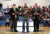 Hall of Fame Night at Granville (Ohio) High School - the Class of 2014 Inductees include Brad Holland  (1976) lettered in Football and Wrestling - Friday, February 6, 2015 - Cory Becher (2009) lettering in Football, Basketball and Track - Tim Dennison, teacher and Athletic Director as well as Girls' and Boys Tennis Coach