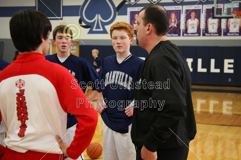 Team Captains - Johnstown High School Johnnies at Granville High School Blue Aces - Thursday, February 6, 2015 - Freshmen Teams