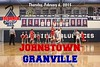 Johnstown High School Johnnies at Granville High School Blue Aces - Thursday, February 6, 2015 - Freshmen Teams