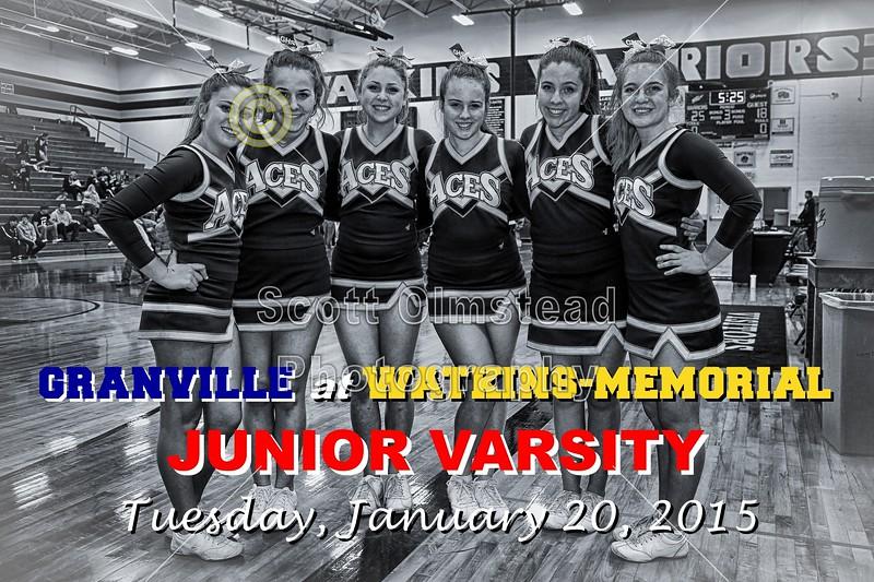 Granville High School Blue Aces at Watkins-Memorial High School Warriors - Wednesday, January 21, 2015 - Junior Varsity