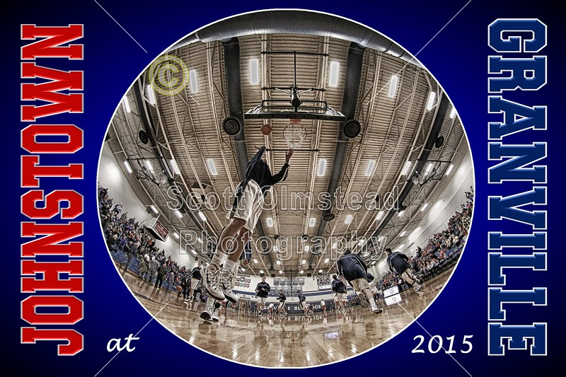 Johnstown High School Johnnies at Granville High School Blue Aces - Granville Hall of Fame Night - Friday, February 6, 2015 - Varsity