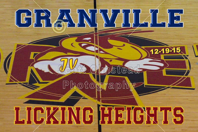 Granville High School Blue Aces at Licking Heights High School Hornets - Junior Varsity - Saturday, December 19, 2015