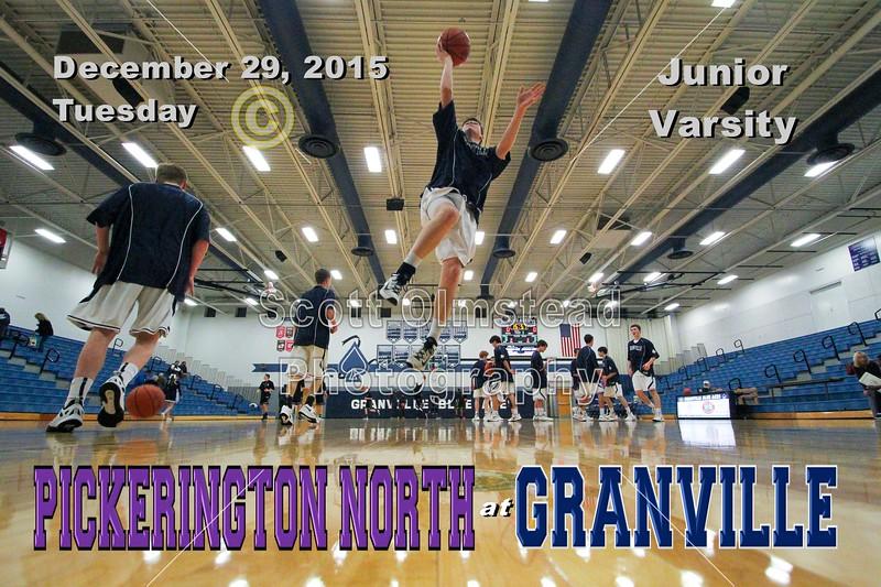 Franklin Heights High School Falcons at Granville High School Blue Aces - Junior Varsity - Tuesday, December 29, 2015