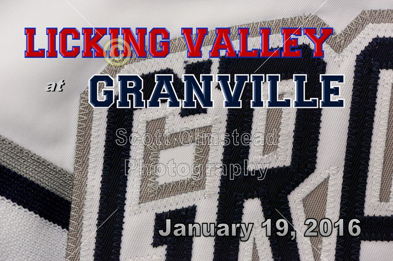 Licking Valley High School Panthers at Granville High School Blue Aces - Tuesday, January 19, 2016