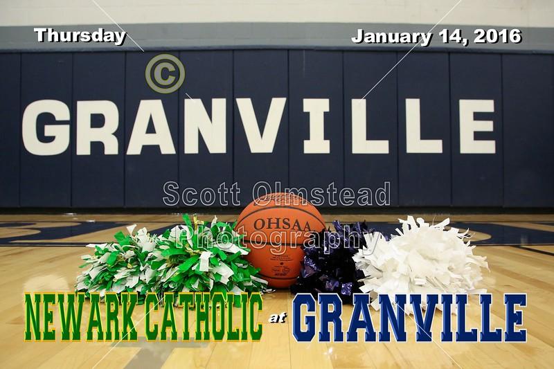 Newark Catholic High School Green Wave at Granville High School Blue Aces - Thursday, January 14, 2016