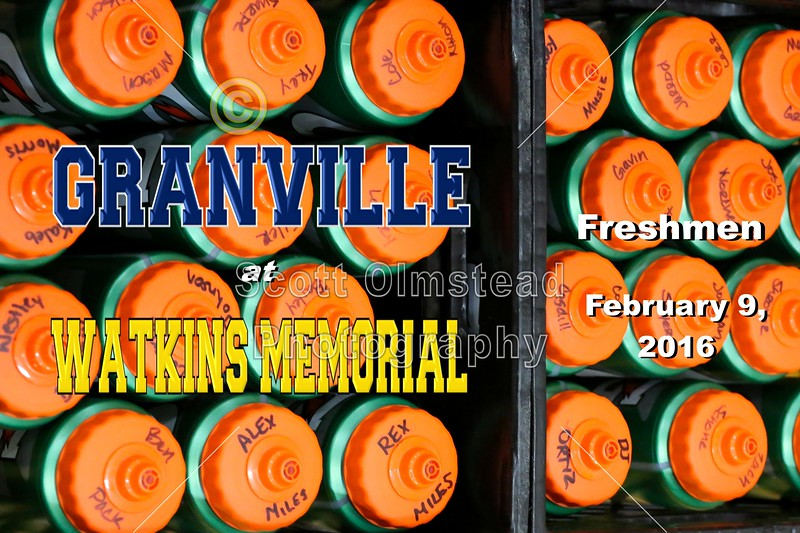 Granville High School Blue Aces at Watkins Memorial High School Warriors - Freshmen  - Tuesday, February 9, 2016
