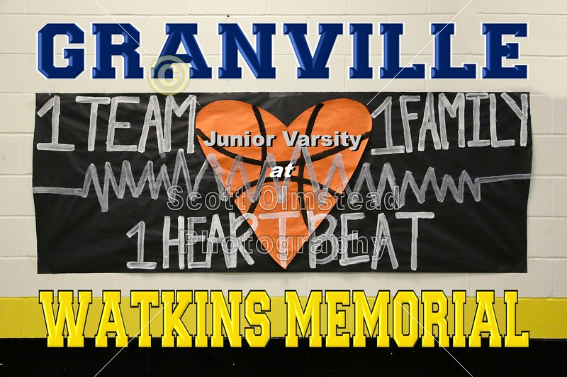 Granville High School Blue Aces at Watkins Memorial High School Warriors - Junior Varsity - Tuesday, February 9, 2016