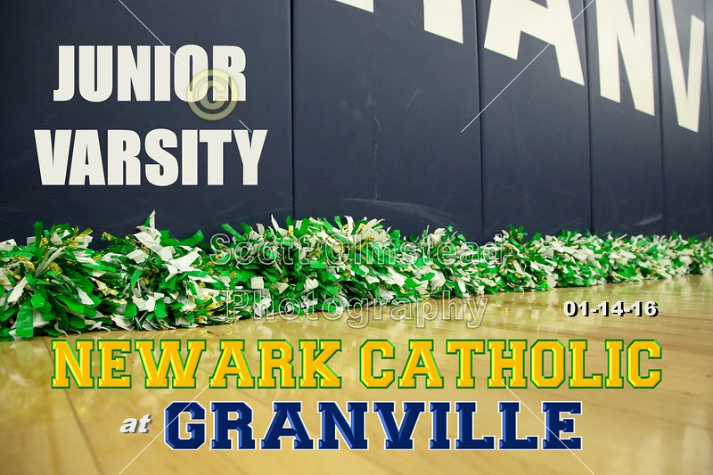 Newark Cathoilc High School Green Wave at Granville High School Blue Aces - Junior Varsity - Thursday, January 14, 2016