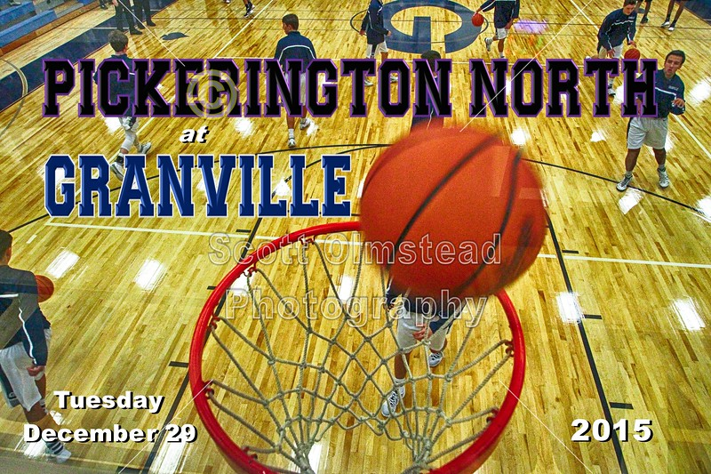 Pickerington North High School Panthers at Granville High School Blue Aces - Varsity - Tuesday, December 29, 2015
