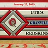 Granville High School Blue Aces at Utica High School Redskins - Friday, January 25, 2019