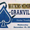 Junior Varsity - Watkins Memorial High School Warriors at Granville High School Blue Aces - Wednesday, December 18, 2019
