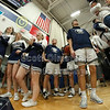 The Blue Aces take the court - Heath High School Bulldogs at Granville High School Blue Aces - Friday, January 24, 2020
