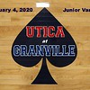 Junior Varsity - Utica High School Redskins at Granville High School Blue Aces - Tuesday, February 4, 2020
