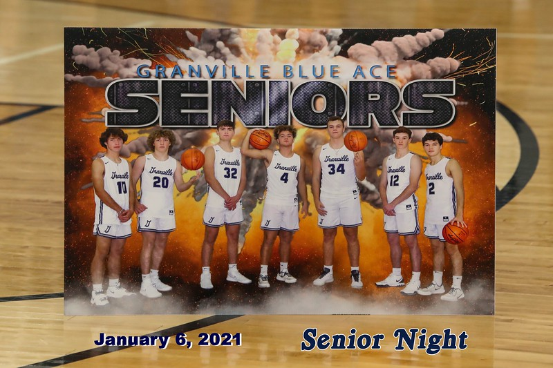Senior Night - Lakewood High School Lancers at Granville High School Blue Aces - Wednesday, January 6, 2021