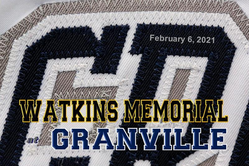 Watkins Memorial High School Warriors at Granville High School Blue Aces - Saturday, February 6, 2021