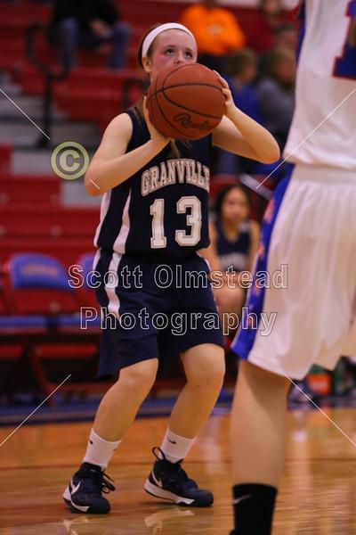 Friday, December 7, 2012 - Granville Blue Aces at Lakewood Lancers - Junior Varsity Game