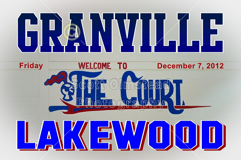 Friday, December 7, 2012 - Granville Blue Aces at Lakewood Lancers
