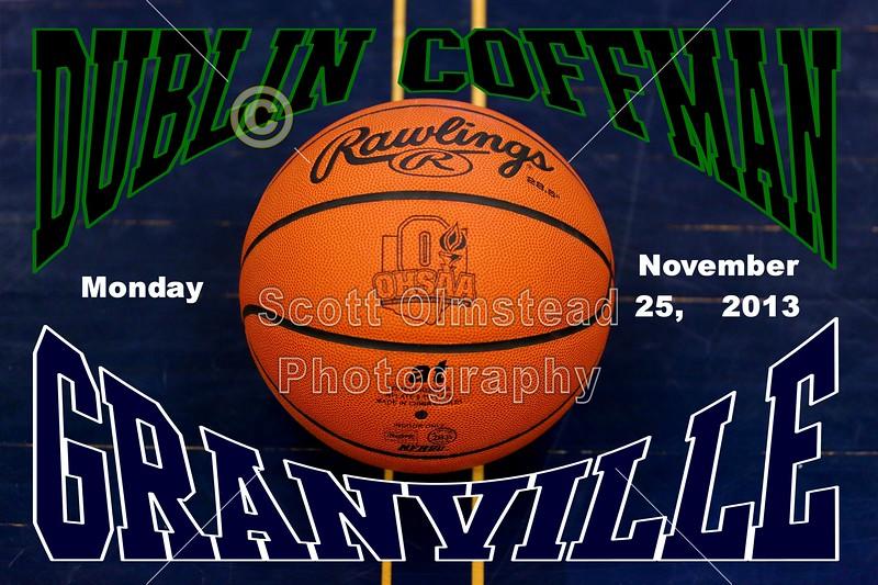 Monday, November 25, 2013 - Dublin Coffman Shamrocks at Granville Blue Aces