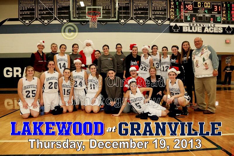 Thursday, December 19, 2013 - Lakewood Lancers at Granville Blue Aces - Teacher Appreciation Night
