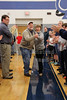 Fans Ready for the Blue Aces to Take the Court - Granville High School Blue Aces Senior and Family Recognition Day - Columbus DeSales High School at Granville High School Blue Aces - Saturday, February 14, 2015