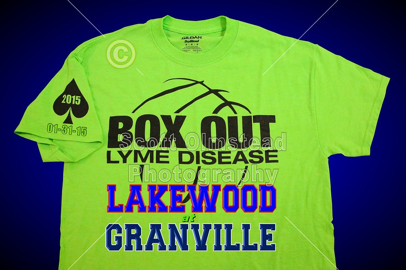 Lakewood High School Lancers at Granville High School Blue Aces - Saturday, January 31, 2015 - BOX OUT Lyme Disease Benefit Game