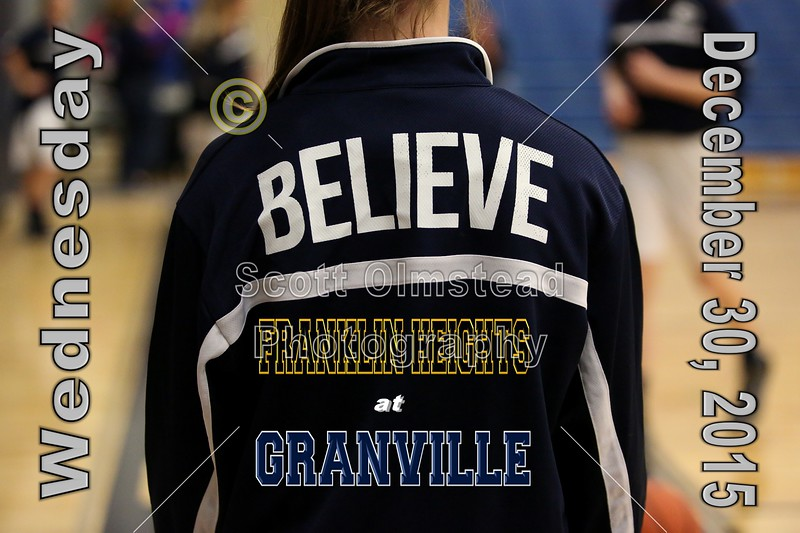 Franklin Heights High School Falcons at Granville High School Blue Aces - Varsity - Wednesday, December 30, 2015