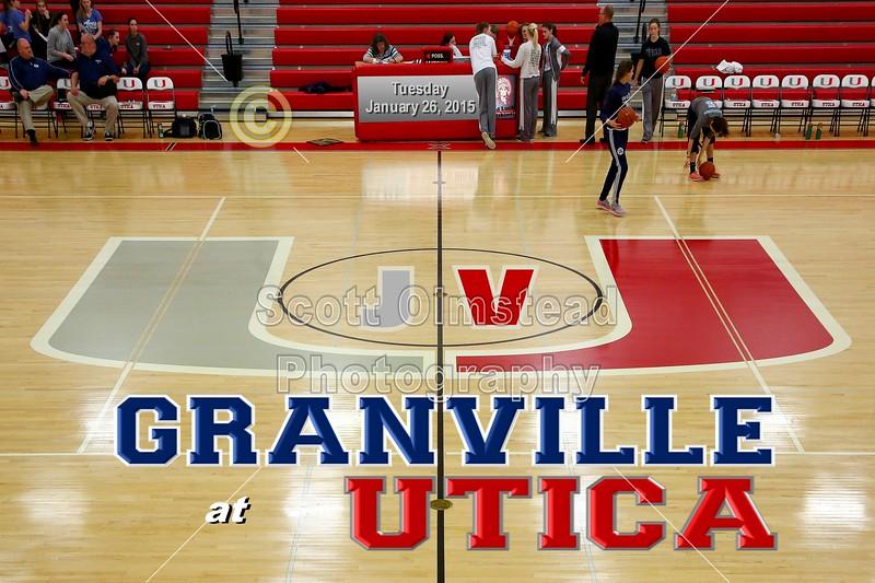 Granville High School Blue Aces at Utica High School Redskins - Junior Varsity - Tuesday, January 26, 2016