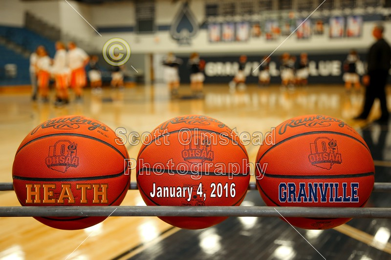 Heath High School Bulldogs at Granville High School Blue Aces - Monday, January 4, 2016