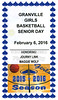 Commemorative Program Honoring Blue Ace Seniors Journy Link and Maggie Wolf  on Senior Day - Newark Catholic High School Green Wave at Granville High School Blue Aces - Saturday, February 6, 2016
