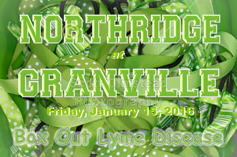 Northridge High School Vikings at Granville High School Blue Aces - Box Out Lyme Disease Benefit Game - Friday, January 15, 2016