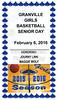 Commemorative Senior Day Program - Newark Catholic High School Green Wave at Granville High School Blue Aces - Senior Day - Saturday, February 6, 2016