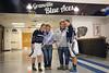 Blue Ace Seniors Maggie Wolf and Journy Link on Senior Day - Newark Catholic High School Green Wave at Granville High School Blue Aces - Senior Day - Saturday, February 6, 2016