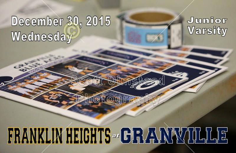 Franklin Heights High School Falcons at Granville High School Blue Aces - Junior Varsity - Wednesday, December 30, 2015