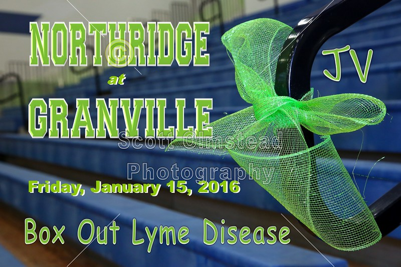 Northridge High School Vikings at Granville High School Blue Aces - Box Out Lyme Disease Benefit Game - Junior Varsity - Friday, January 15, 2016