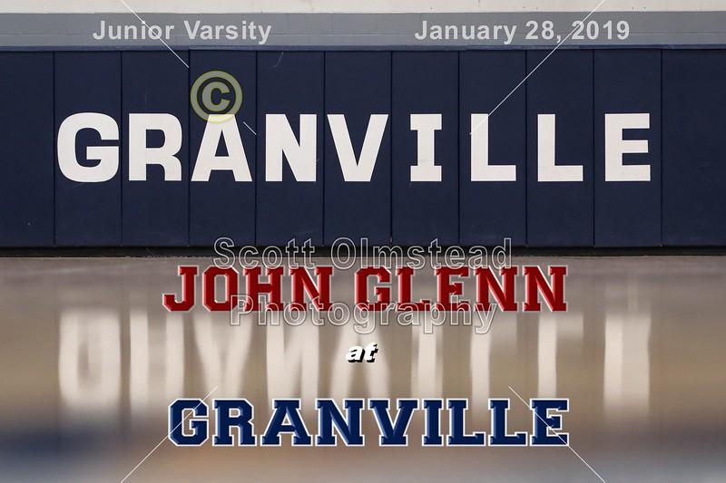 Junior Varsity - John Glenn High School Muskies at Granville High School Blue Aces - Monday, January 28, 2019